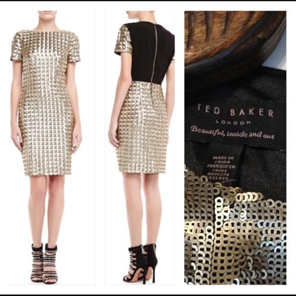c43e5806 Ted Baker London Dresses | Flash Sale Gold Sequin Dress By | Poshmark